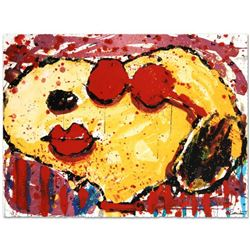 """Tom Everhart- Hand Pulled Original Lithograph """"Very Cool Dog Lips in Brentwood"""""""
