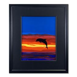 """Wyland, """"A Sea of Color"""" Hand Signed Original Painting on Board with Certificate of Authenticity."""