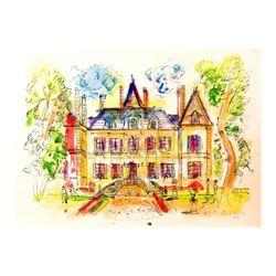 "Wayne Ensrud ""Chateau Pichon Longueville Comtess de Lalande - 2"" Mixed Media Original Artwork; Hand"
