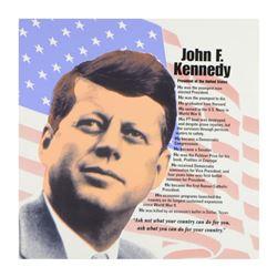 "Steve Kaufman (1960-2010), ""John F. Kennedy"" Limited Edition Hand Pulled Silkscreen on Canvas, Numbe"