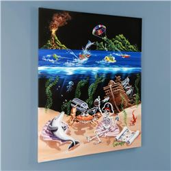 """""""Sand Bar 2"""" Limited Edition Hand-Embellished Giclee on Canvas (28"""" x 35"""") by Michael Godard, AP Num"""