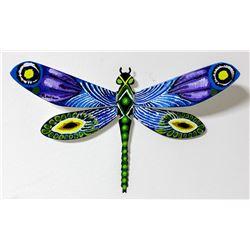 "Patricia Govezensky- Original Painting on Cutout Steel ""Dragonfly XXII"""