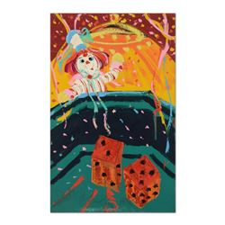"Paul Blaine Henrie (1932-1999), ""7 Come 11"" Original Oil Painting (30"" x 48"") on Canvas, Hand Signed"