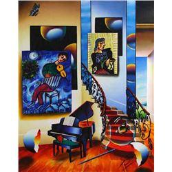 """Ferjo """"FIDDLER"""" Giclee on Canvas"""