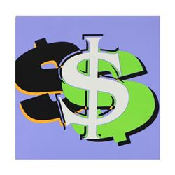 """Steve Kaufman (1960-2010), """"Dollar Sign State 6"""" Limited Edition Silkscreen on Canvas, Numbered 11/5"""