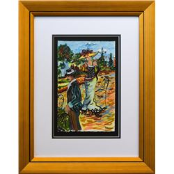 "Patricia Govezensky- Original Watercolor ""Perfect As It Can Be"""