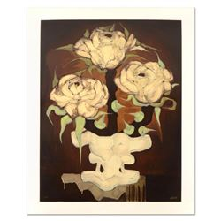"""Brenda Barnum, """"Press Roses"""" Limited Edition Serigraph, Numbered and Hand Signed with Certificate of"""