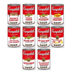 """Andy Warhol """"Soup Can Series 2"""" Limited Edition Suite of 10 Silk Screen Prints from Sunday B Morning"""