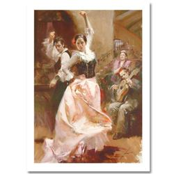 """Pino (1939-2010) """"Dancing In Barcelona"""" Limited Edition Giclee. Numbered and Hand Signed; Certificat"""