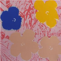 "Andy Warhol- Silk Screen ""Flowers 11.70"""