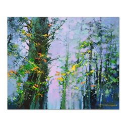 "Thomas Leung, ""Summer Woods"" Original Oil Painting on Canvas Board, Hand Signed with Certificate of"