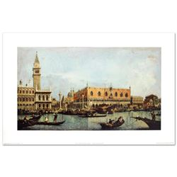 """Canal of San Marco with the Piazza San Marco"" Fine Art Print by Canaletto (1697-1768), Created with"