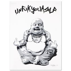 "Padhia Avocado, ""Gangsta Buddha"" Limited Edition Silkscreen, Numbered and Hand Signed with Letter of"