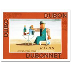 """Dubonnet.A Leau"" Hand Pulled Lithograph by the RE Society, Image Originally by A.M. Cassandra. Incl"
