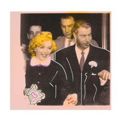 "Ringo Daniel Funes, (Protege of Andy Warhol's Apprentice, Steve Kaufman), ""Mr. and Mrs. DiMaggio"" On"