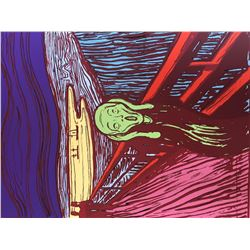 "Andy Warhol- Silk Screen ""Munch's 'The Scream' - Green"""