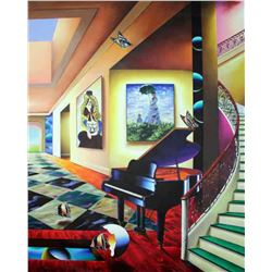 """Ferjo """"Perfect Afternoon (Right)"""" Giclee on Canvas"""