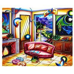 """Alexander Astahov- Original Oil on Canvas """"Chilling Room"""""""