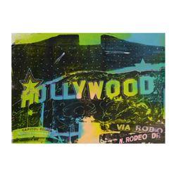 "Steve Kaufman (1960-2010), ""Hollywood"" Hand Embellished Limited Edition Silkscreen on Canvas, TP Num"