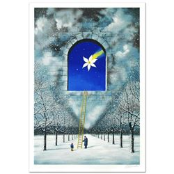 """Rafal Olbinski- Hand Pulled Original Lithograph """"Magical Transparency of Time"""""""