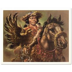 """Virginia Dan (1922-2014), """"Warrior"""" Limited Edition Lithograph, Numbered and Hand Signed with Letter"""