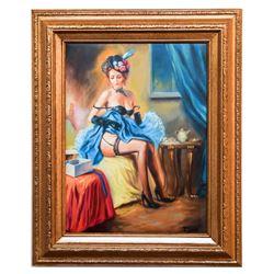 "Taras Sidan- Original Giclee on Canvas ""Alone"""