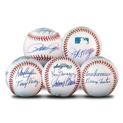 """""""Starting 8 Ball"""" This Baseball Features Signatures from the Big Red Machine's Starting Eight, with"""
