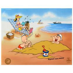 """Myron Waldman (1908-2006). """"A Day At The Beach"""" Limited Edition Hand Inked and Painted Animation Cel"""