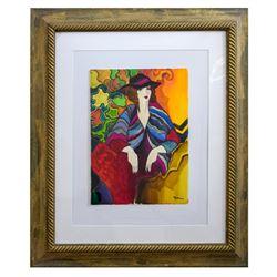 "Patricia Govezensky- Original Watercolor ""Elodie"""