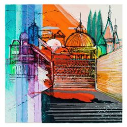 "Calman Shemi, ""Jerusalem Spirit"" Limited Edition Serigraph, Numbered and Hand Signed with Letter of"