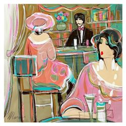 "Isaac Maimon, ""El Bella Bar"" Original Acrylic Painting, Hand Signed with Certificate of Authenticity"