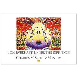 """Nobody Barks in LA"" Fine Art Poster by Renowned Charles Schulz Protege Tom Everhart."