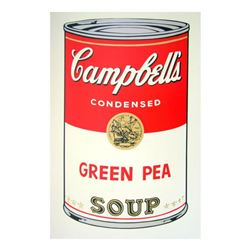 "Andy Warhol ""Soup Can 11.50 (Green Pea)"" Silk Screen Print from Sunday B Morning."