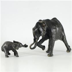 "Donna Mason-Adams, ""Mother and Child"" Limited Edition Bronze Two Piece Sculpture Set, Signed and Num"