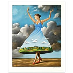 "Rafal Olbinski- Hand Pulled Original Lithograph ""Texture of Casual Desire"""