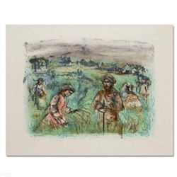 """Fields Near Chartres"" Limited Edition Lithograph by Edna Hibel (1917-2014), Numbered and Hand Signe"