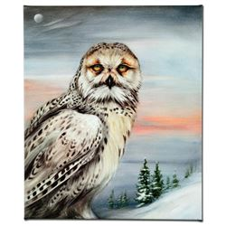 """Snow Owl in Alaska"" Limited Edition Giclee on Canvas by Martin Katon, Numbered and Hand Signed. Thi"