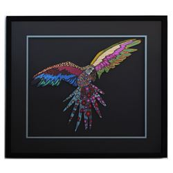 "Patricia Govezensky- Original Painting on Laser Cut Steel ""Macaw XVIII"""