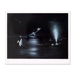 "Wyland, ""Orca Starry Night"" Limited Edition Lithograph, Numbered and Hand Signed with Certificate of"