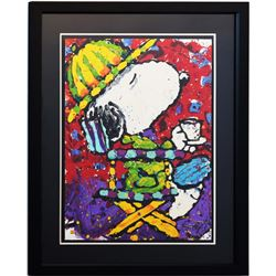 "Tom Everhart- Hand Pulled Original Lithograph ""Tea At The Bel Air Beagle Club 7:00 PM"""