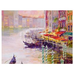 "Marilyn Simandle, ""Canal at Dusk"" Limited Edition on Canvas, Numbered and Hand Signed with Letter of"