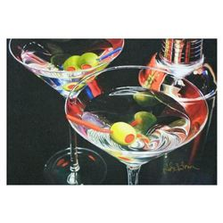 "Nobu Haihara, ""Martini Toast"" Limited Edition Canvas, Signed and with COA."