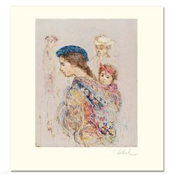 """Guatemalan Mother and Baby"" Limited Edition Lithograph by Edna Hibel (1917-2014), Numbered and Hand"