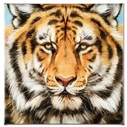 """Terrific Tiger"" Limited Edition Giclee on Canvas by Martin Katon, Numbered and Hand Signed. This pi"