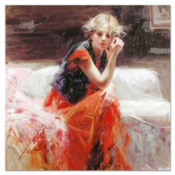 """Pino (1939-2010), """"Silent Contemplation"""" Artist Embellished Limited Edition on Canvas, AP Numbered a"""