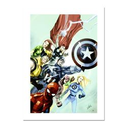 """Stan Lee Signed, """"Secret Invasion #1"""" Numbered Marvel Comics Limited Edition Canvas by Leinil Franci"""