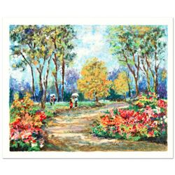 """Dimitri Polak (1922-2008), """"In the Park"""" Limited Edition Serigraph, Numbered and Hand Signed with Ce"""