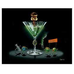"""Michael Godard """"Nuclear Martini"""" Limited Edition Giclee on Canvas, Numbered and Signed with COA. Gal"""