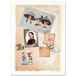 """""""Family Album II"""" Limited Edition Lithograph by Arie Azene, Numbered and Hand Signed with Certificat"""