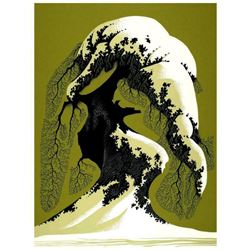 """Eyvind Earle (1916-2000), """"Snow Laden"""" Limited Edition Serigraph on Paper; Numbered & Hand Signed; w"""